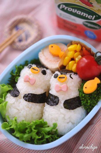 ペンギンのおにぎり弁当