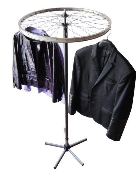 Bike wheel hanger.                             Gloucestershire Resource Centre http://www.grcltd.org/scrapstore/