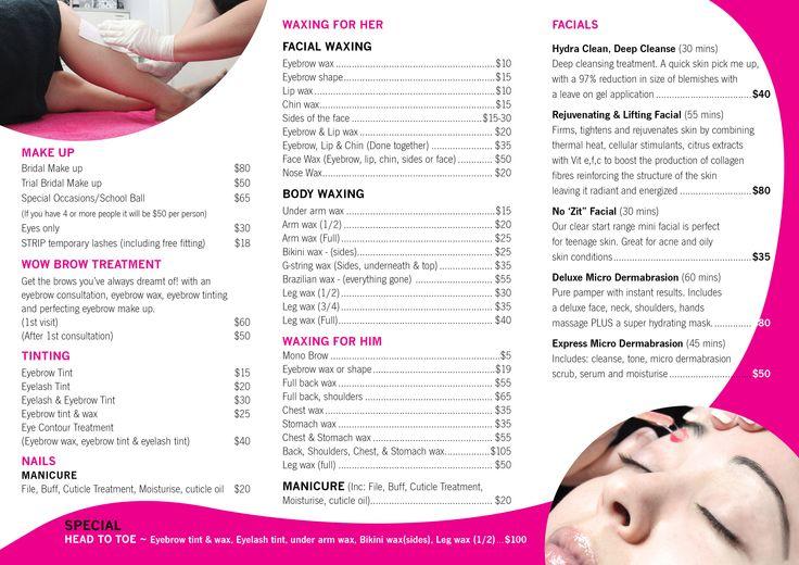New Leaflet for Trish's Beauty Salon (inside)