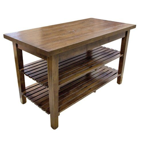 Kitchen Island with Butcher Block Top | Kitchen island with ...