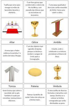 Catequese Kids: Como ensinar sobre objetos litúrgicos - Fichas