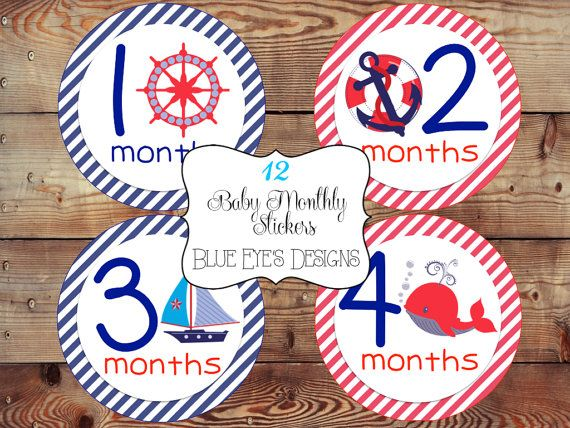 Baby Monthly StickerBaby Age StickersBaby by blueeyesdesigns27