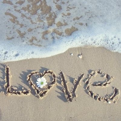 ...to make a heart in the sand with our initials in it...in  Jamaica :)