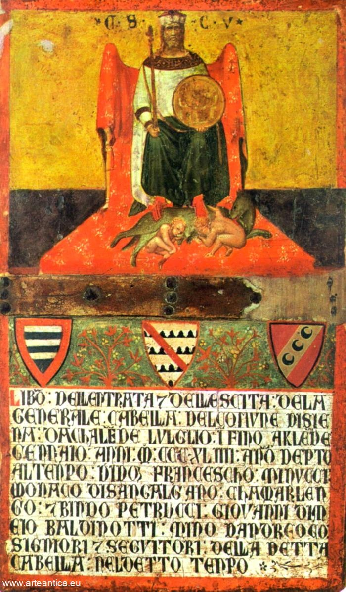 Il buon governo di Siena.  Autore: Ambrogio Lorenzetti  Olio su Tavola