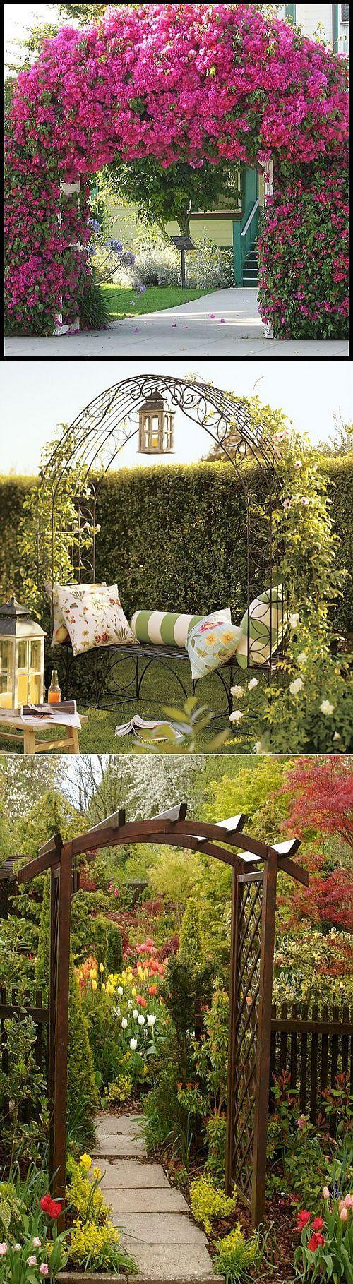 Садовая арка – красота в простоте конструкции. Сохраните любой пост с | сад-огород | Постила