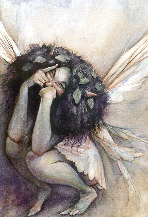 Faerie by Brian Froud. These fairies of his are my very favourite depictions of the fair folk. They are wild, mischievous, and absolutely to be respected.