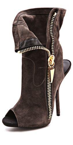 Giuseppe Zanotti Alien Peep-Toe Booties 2014 $895 #Zanotti #Shoes #Boots