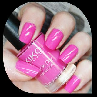 MichelaIsMyName: NOTD // KIKO Quick Dry Nail Lacquer 842 Rosa Profo...