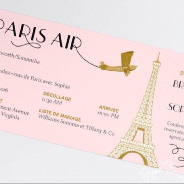 Paris Theme Party Boarding Pass Invitation Real Airline Etsy Paris Theme Party Paris Invitations Boarding Pass Invitation