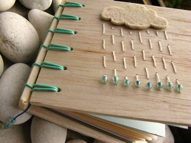 Regen bewölkt Balsa Cover Notebook