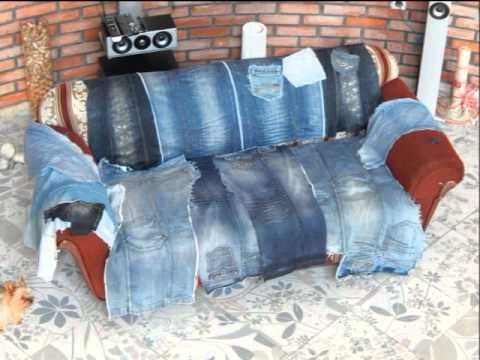 Переделка. Меняем старую обивку дивана на новую. - YouTube