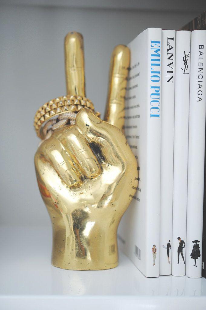 brass Peace Hand sign