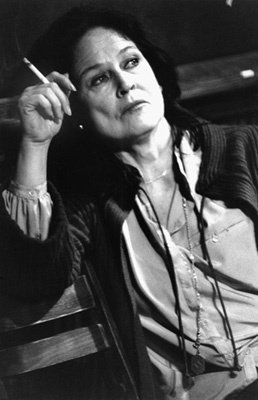 Colleen Dewhurst. Great actress. Amazing deep voice. Married to George C. Scott, mother of actor Campbell Scott ('Dying Young')