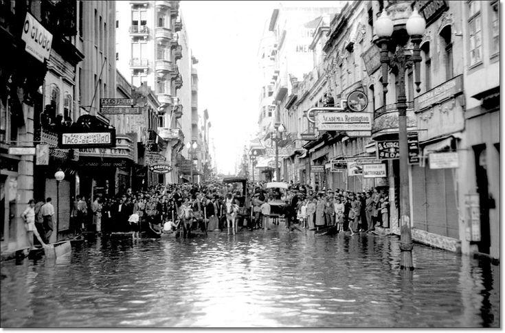 Enchente de 1941 Rua dos Andradas.
