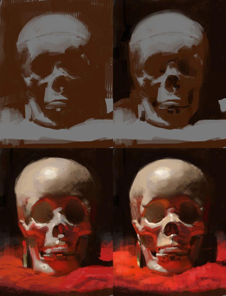 ArtStation - Skull still life, ryan lang