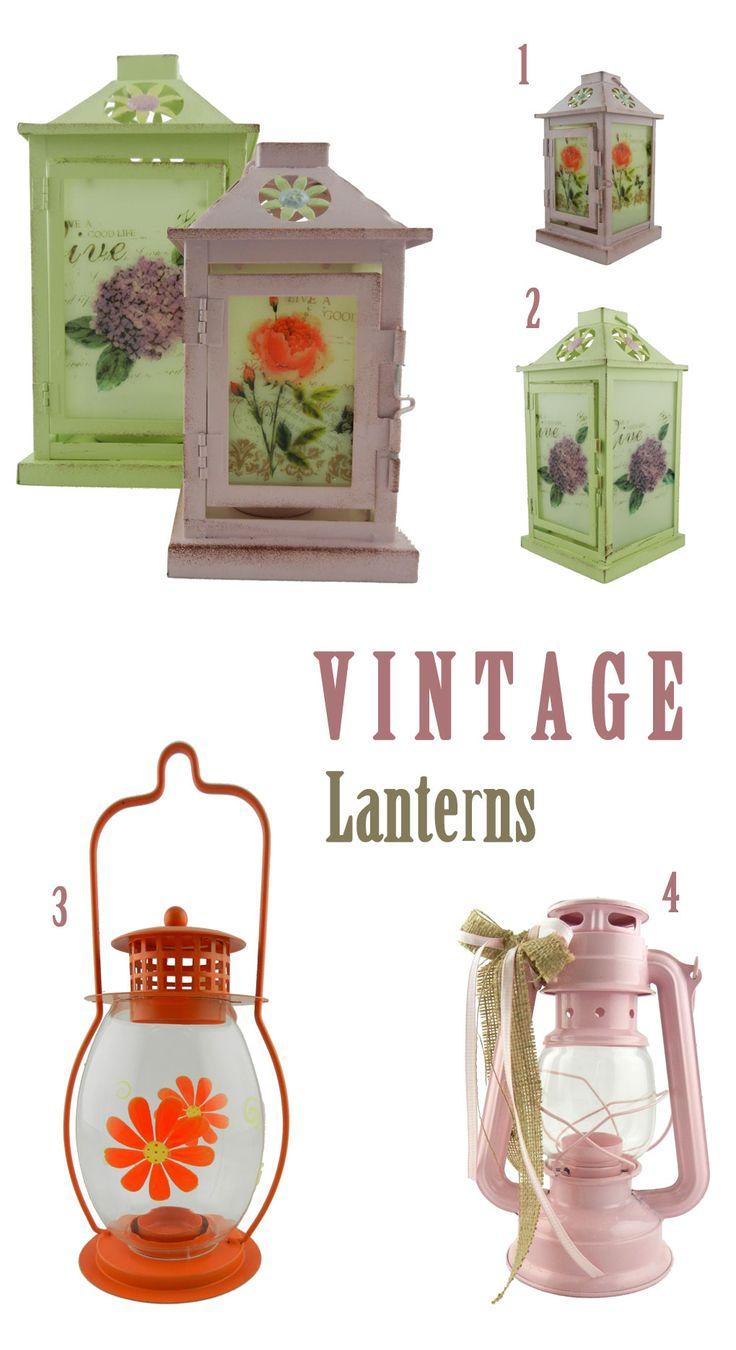 Vintage λάμπες και φανάρια για κεριά | lovelyhome.gr