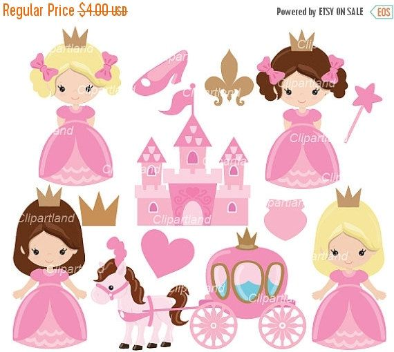 ON SALE INSTANT Download. Cp_11_Princess. Cute by clipartland