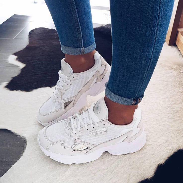 """YesFootwear on Instagram: """"⚪️⚪️⚪️ #adidas #falcon"""