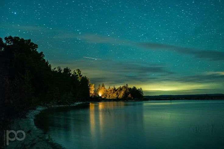 The beautiful night sky at The Headlands Dark Sky Park - Two miles west of Mackinaw City, Michigan.  Photo courtesy of Phil Overbeeke Photography