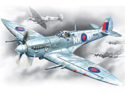 Airplane Model Kits - ICM Models Spitfire MkVII Building Kit * Visit the image link more details.