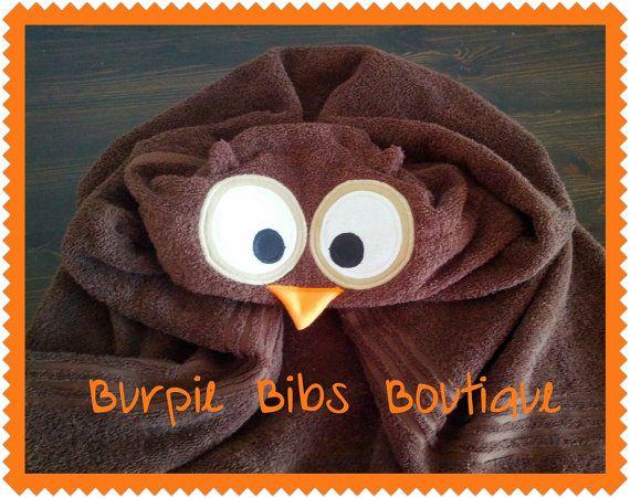 Brown Owl Hooded Towel Bath Pool Baby Child Kid