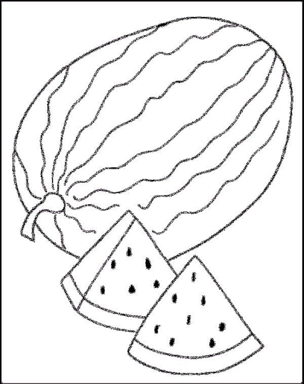 Watermelon Coloring Pictures Coloring Pictures Color Coloring Pages For Kids