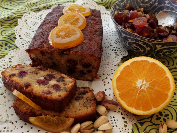 Healthy orange and rum spelt fruitcake-cake anglais #orange #spelt #fruitcake #recipe at liliscakes.com/guest post hogriderdookes.wordpress.com