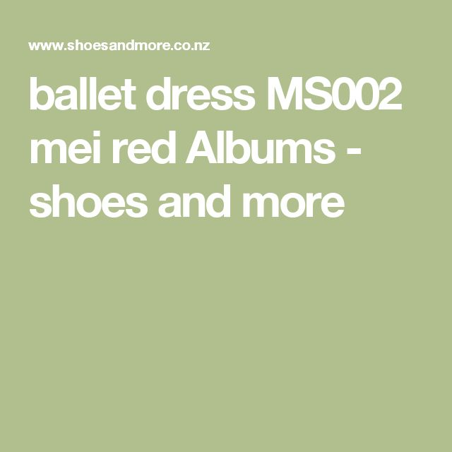 ballet dress MS002 mei red Albums - shoes and more