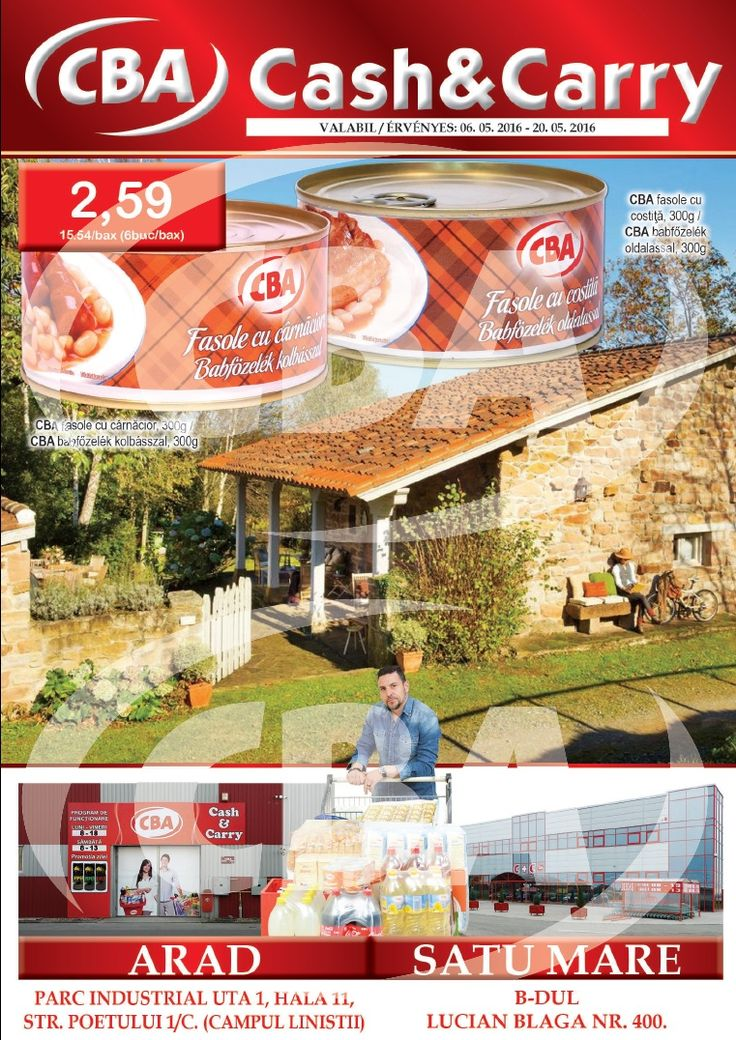 Catalog CBA Oferte 06 - 20 Mai 2016! Oferte si recomandari: MIZO mascarpone 250 g 4.59 lei; Haribo bomboane gumate 150 g Spaghetti 150 g 3.45 lei