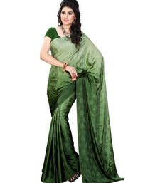 Buy Green Printed jacquard saree with blouse jacquard-saree online