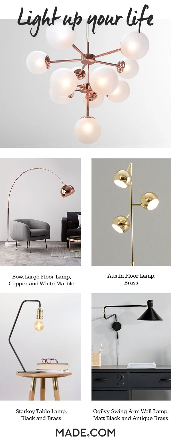 Lightbulb moment: update your lighting. Change your space with a statement table lamp, floor lamp or ceiling light. You'll be amazed at the difference it makes.