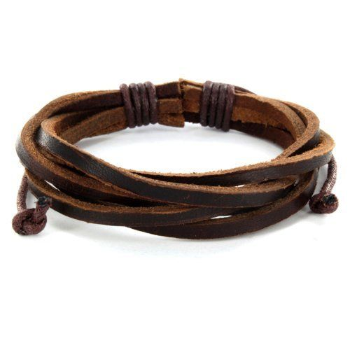 Brown Twisted Leather Bracelet West Coast Jewelry. $10.95