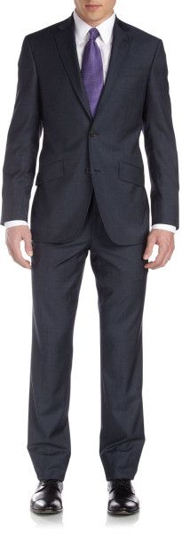 Ted Baker Black Endurance Slim Jim Worsted Two Piece Suit