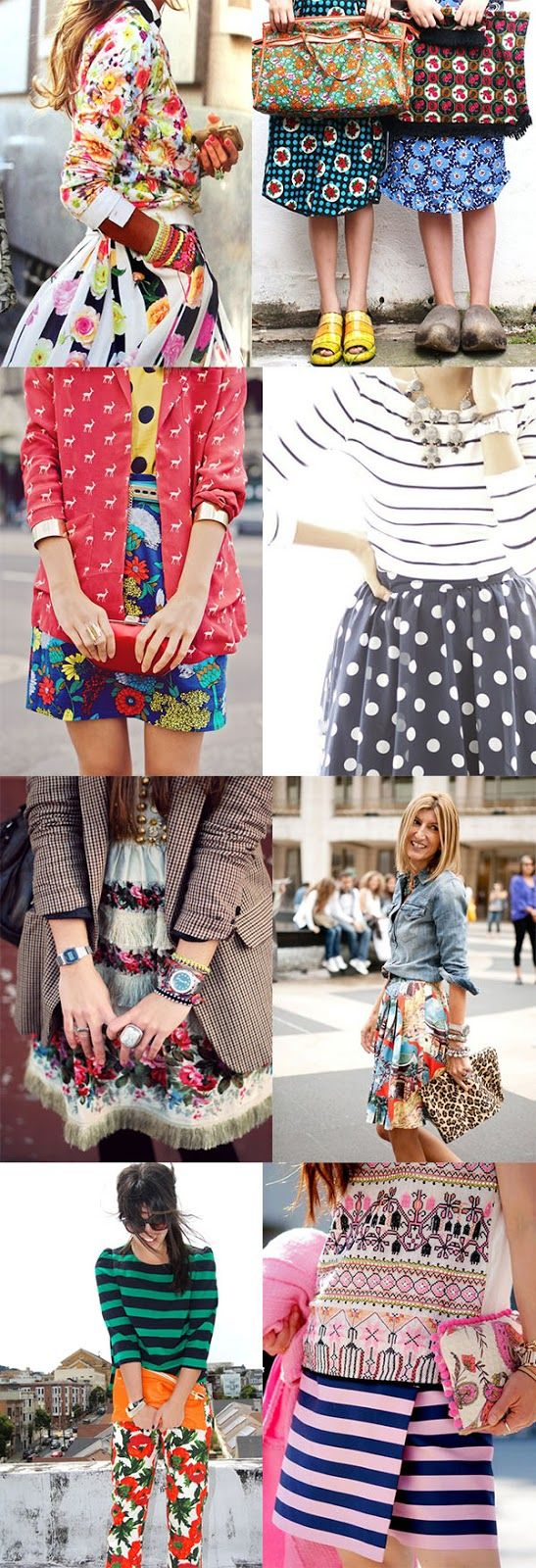 Mixing and matching floral patterns is our new favorite fall fashion trend…. Pattern mixing. Print mixing.