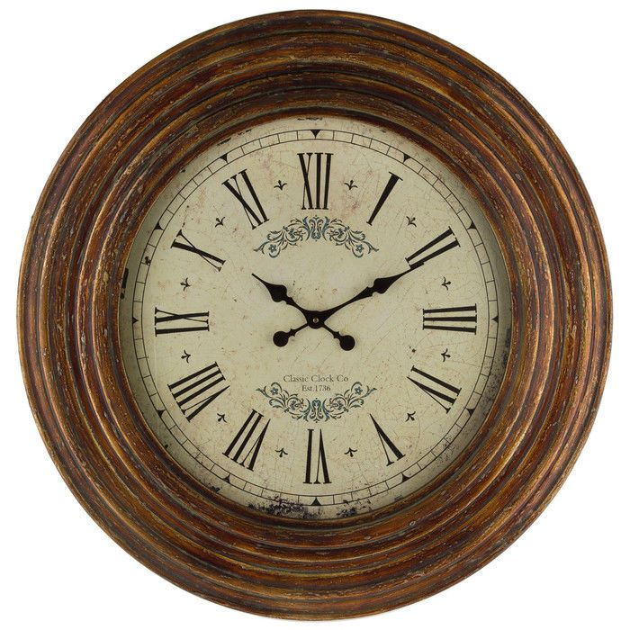 Antique Style Wall Clock Vintage Rustic Kitchen Office