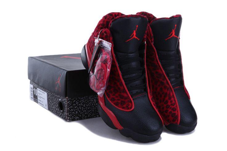 finest selection c48aa 71c27 Air Jordan 13 New Colors Red Leopard Black White Shoes ...
