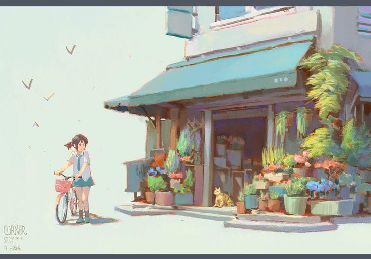 Recently, Krenz Cushart on ArtStation at https://www.artstation.com/artwork/recently