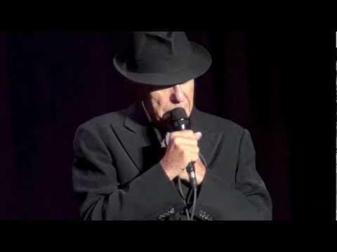 Old Ideas Tour ~ Leonard Cohen, Going Home ~ Dublin 9.12.2012