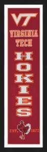 Framed Virginia Tech University Hokies Heritage Banner.