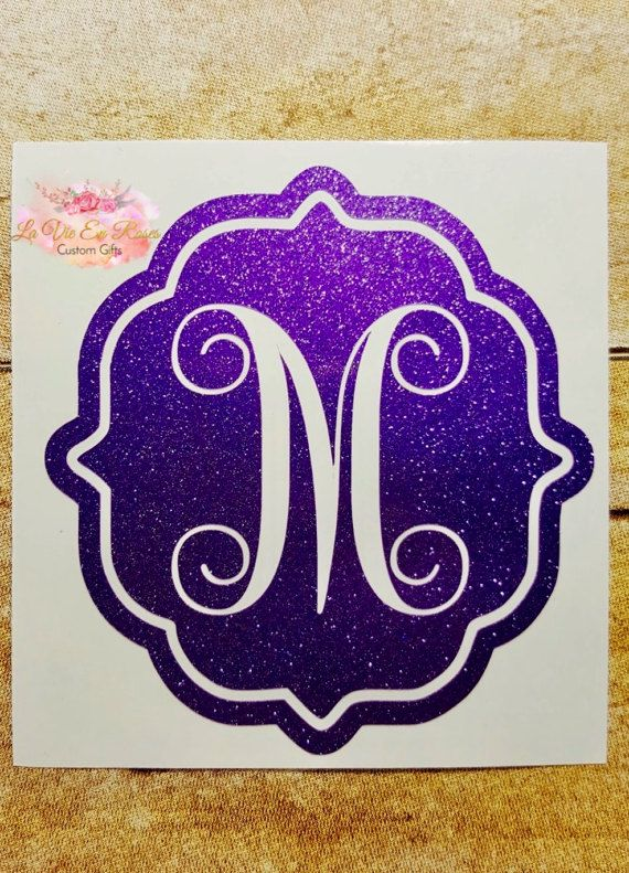 Hey, I found this really awesome Etsy listing at https://www.etsy.com/uk/listing/515329791/pretty-swirl-monogram-frame-decal-for