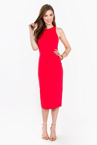 Simple In Coral Dress
