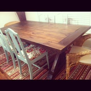 Dinning Table | Do It Yourself Home Projects from Ana White