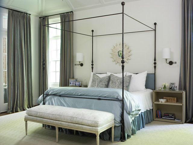 Romantic blue and grey bedroom design home decor for Blue and grey bedroom ideas