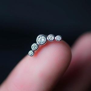 Black 5 Zircons Helix Earring Cartilage Earring Cartilage Piercing Helix Earring Helix Piercing