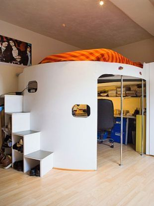 This is one of the coolest beds ever other pinterest offices design and closet - Awesome beds for teenagers ...