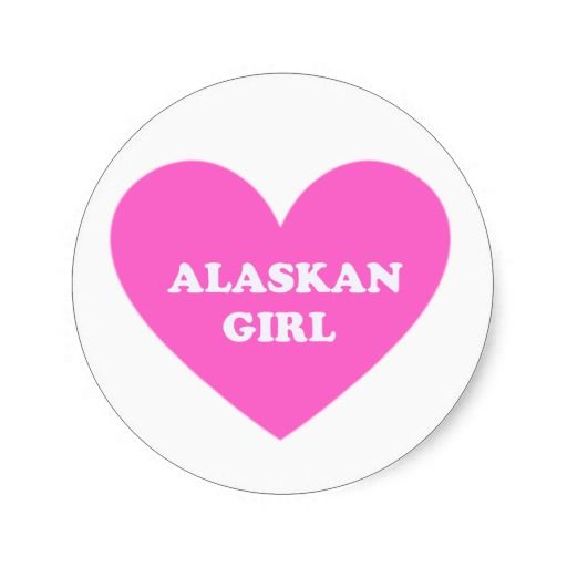 Alaskan Girl Stickers