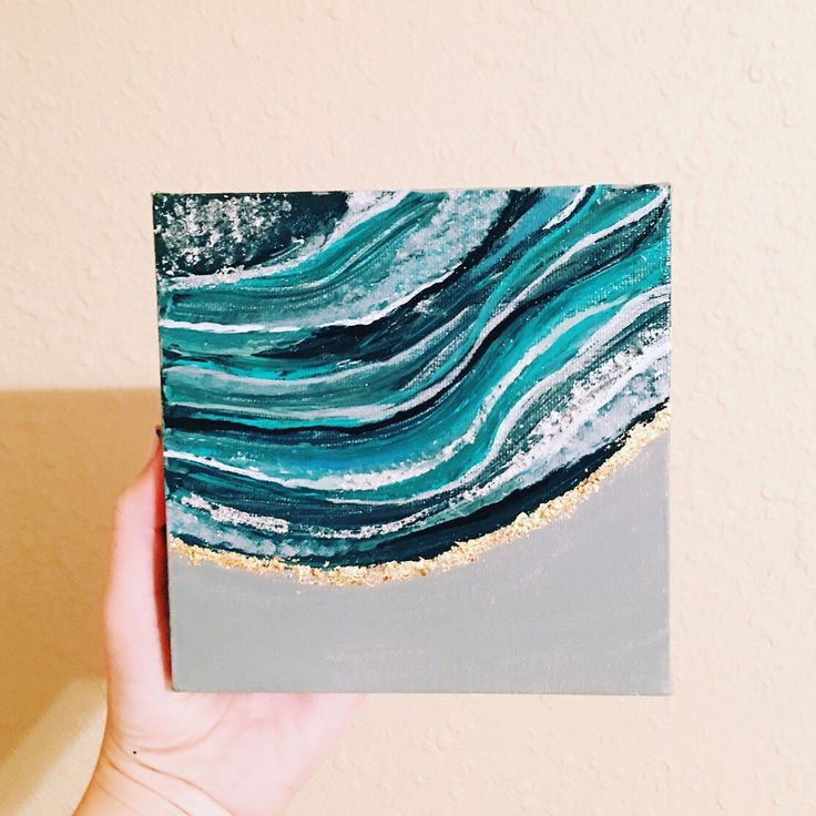 A personal favorite from my Etsy shop https://www.etsy.com/listing/453869310/6x6-agate-painting-gold-leaf-agate