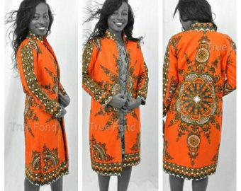 African shirt dress. Ankara shirt dress by TrueFond on Etsy