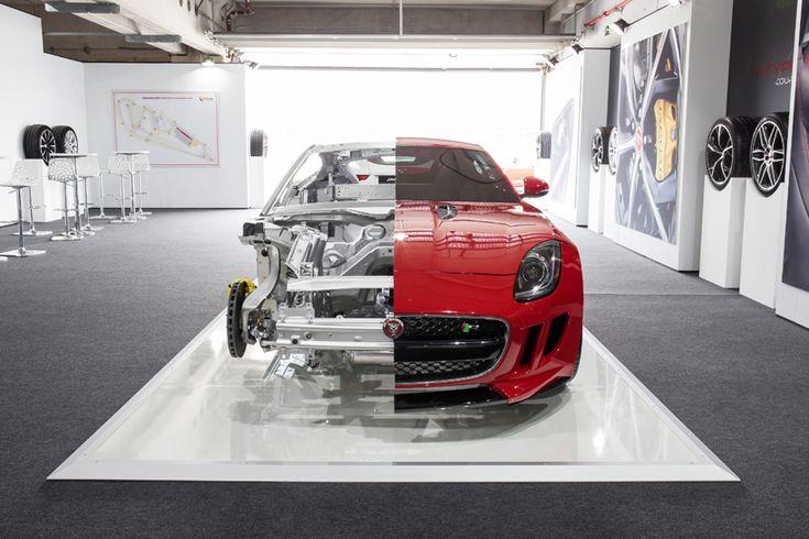 jaguar presents F-TYPE coupe cutaway at wallpaper* handmade - designboom | architecture