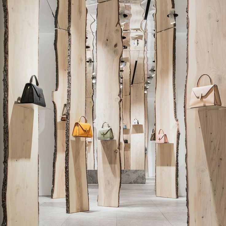 "VALEXTRA, Via Manzoni, Milan, Italy, ""The Forest"", creative by Japanese architect Kengo Kuma, pinned by Ton van der Veer"